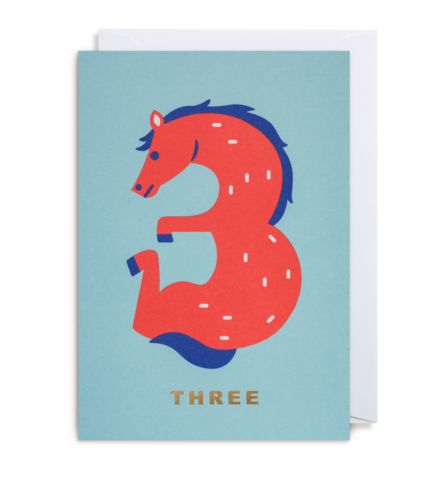 NUMBER THREE HORSE