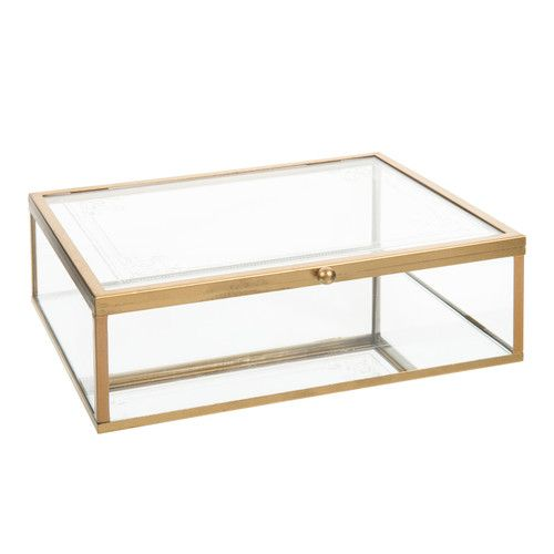 Boîte transparente en verre H 7 cm ARISTO n'est plus disponible