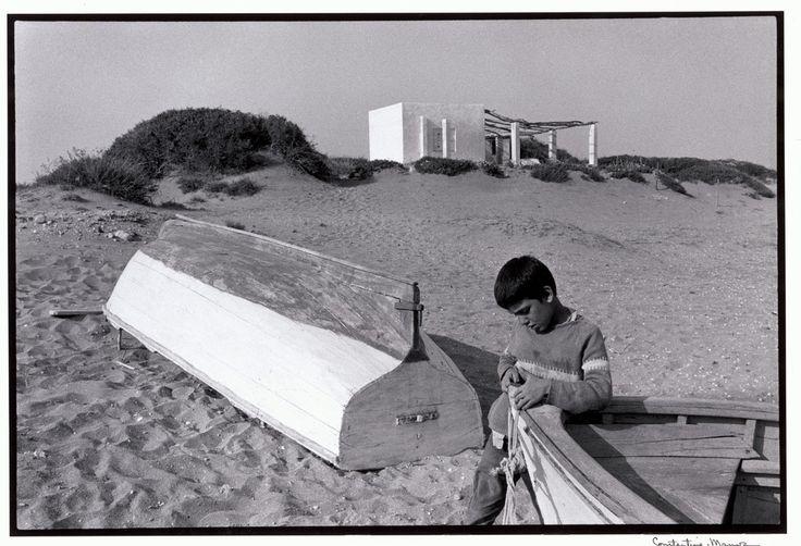 """Constantine Manos View profile Skyros. 1967. Boy on beach. """"A Greek Portfolio"""" p.35 © Costa Manos/Magnum Photos. http://pro.magnumphotos.com/"""