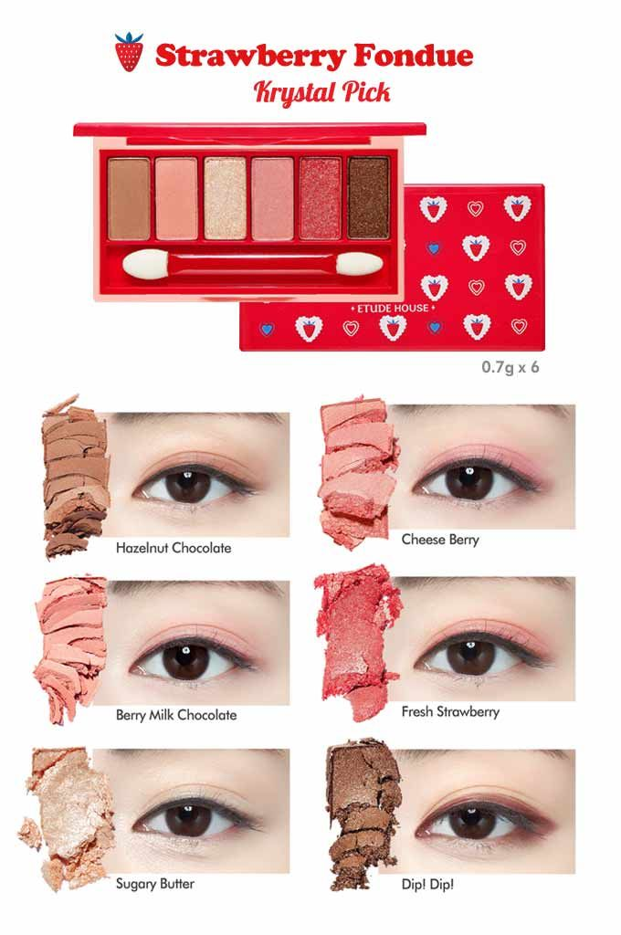 ETUDE HOUSE Berry Delicious Fantastic Color Eyes 0.7g x 5/0.6g x 1 available at Beauty Box Korea