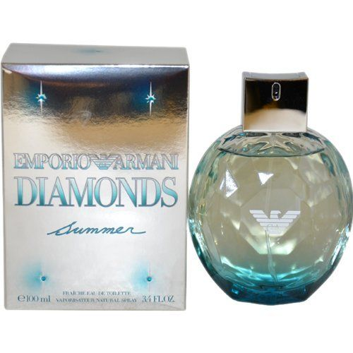 Emporio Armani Diamonds Summer by Giorgio Armani, 3.4 Ounce by Giorgio Armani. $55.93. Launched in the year 2010. Classified as a feminine fragrance. Recommended for casual wear. Introduced by the design house of Giorgio Armani in 2010. Giorgio Armani is classified as feminine fragrance. It is recommended for casual wear.. Save 25% Off!