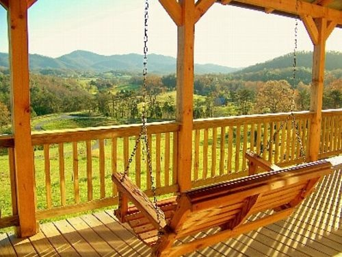 Front Porch Swings Over Looking Beautiful Views