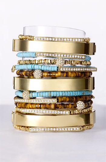 Michael Kors |= Gold + Turquoise Bangles