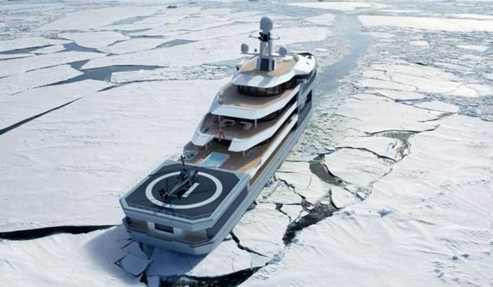 Breaking the ice between luxury and adventure is the $150 million Damen SeaXplorer mega expedition yacht
