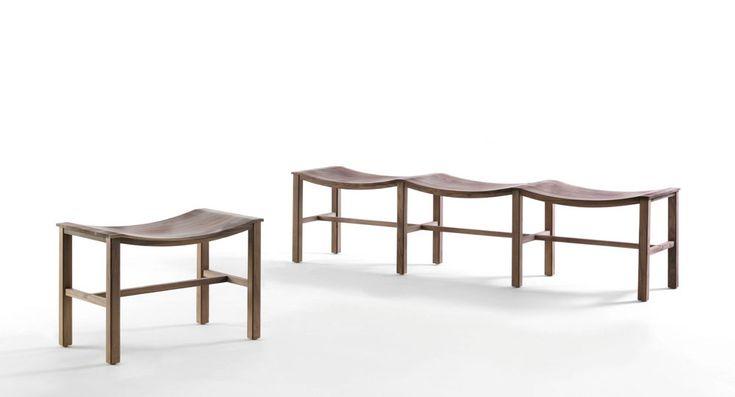 Michele De Lucchi's feeling for design: Piazza Scala bench, Riva 1920 @micheledelucchi #designbest