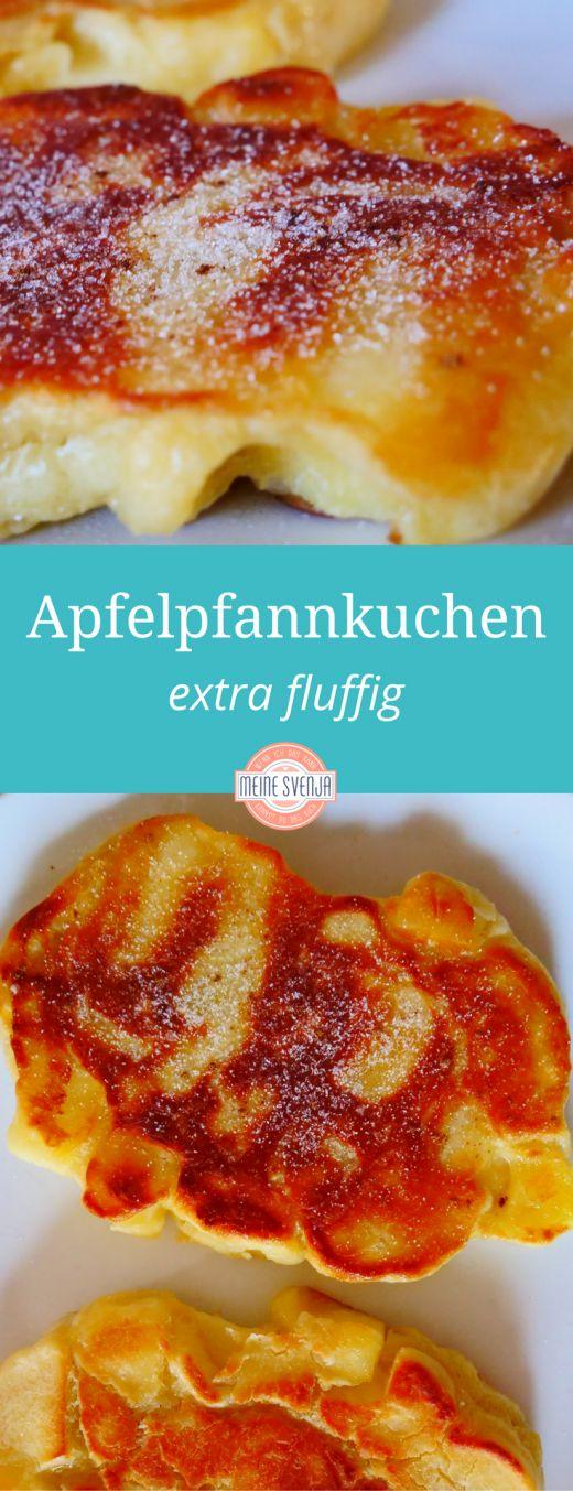 """Apfelpfannkuchen vom Feinsten: Durch die Hefe wird der Teig extra fluffig und man bekommt diese holländische Pfannkuchenvariante, die sogenannten """"Kook"""". Schmeckt nach Kindheit, nach Soulfood und nach mehr."""