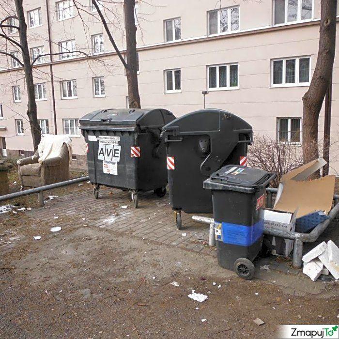 Podnět 145648 - Odpadkový koš kontejner - Praha 10 #Odpadkovýkoškontejner #Praha10 #ZmapujTo #MobilniRozhlas