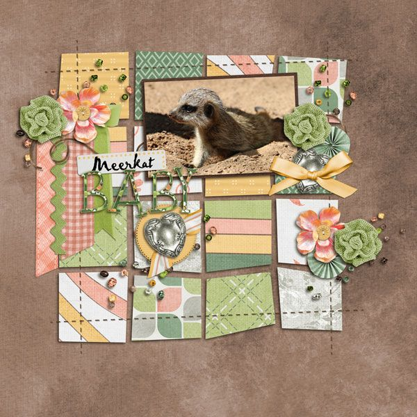 Using Garden Party - Kathryn Estry and Shape Up template set 1 - Jen C Designs