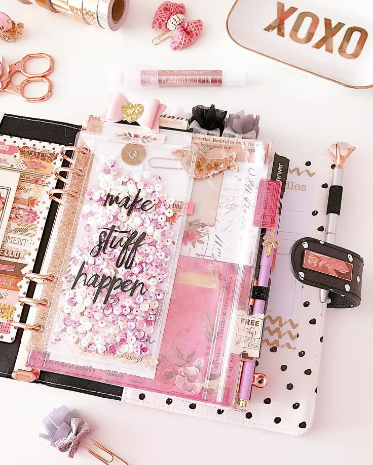 a little planning + a lot of sparkle Watch videos on all the spreads, planners, and stickers I post!⬇
