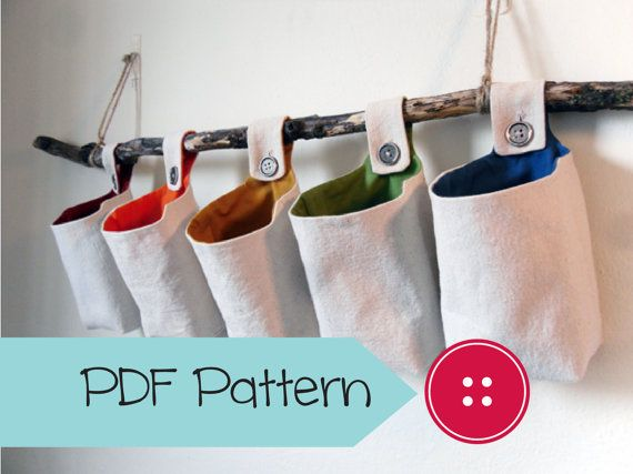 Basket Sewing Pattern, Fabric Hanging Organizer PDF Download Pattern /UPDATED/