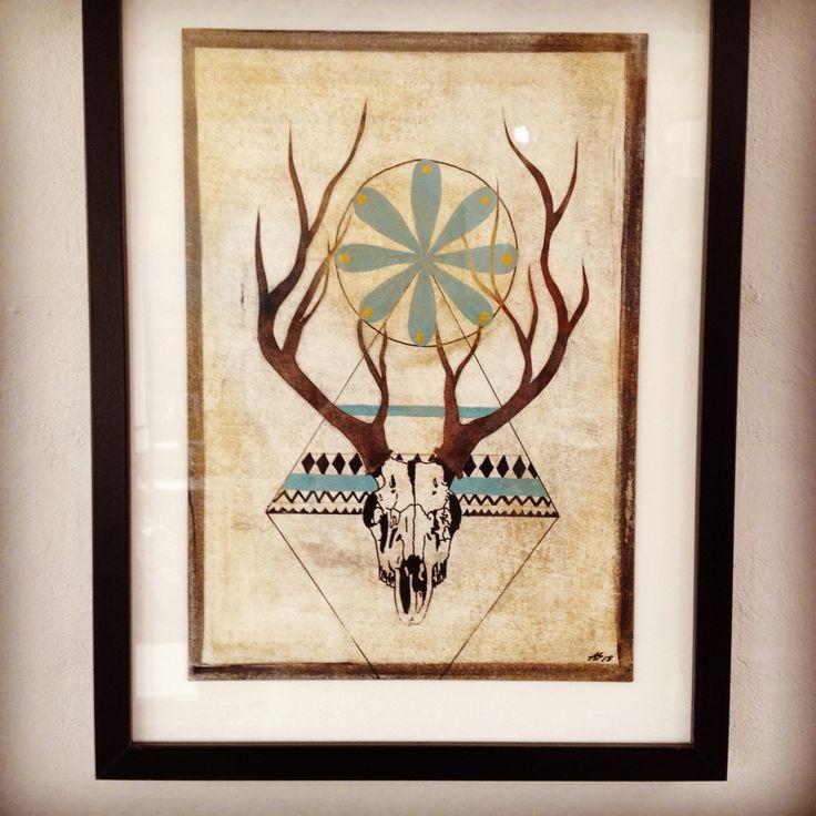 Unika Paperwork 30x40 cm. made by Anne Mette Harkes.  #art #paper