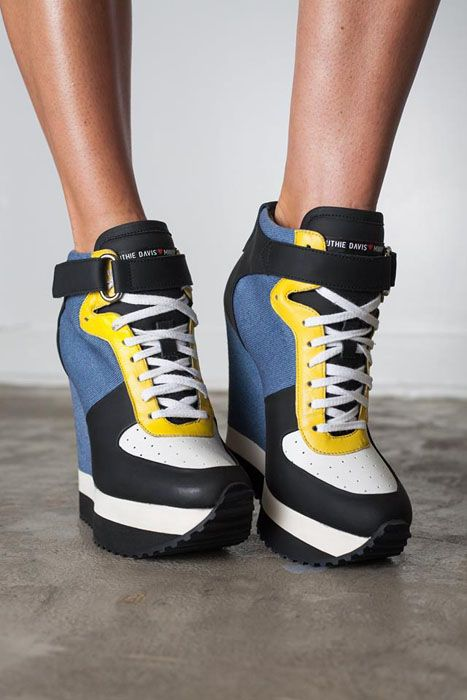 RUTHIE DAVIS MINION WEDGE SNEAKERS W/ TAGS   Buy ➜ https://shoespost.com/ruthie-davis-minion-wedge-sneakers-w-tags/