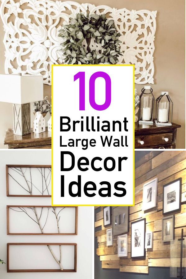 10 Essential Ideas For Decorating Large Walls In 2020 Large Wall