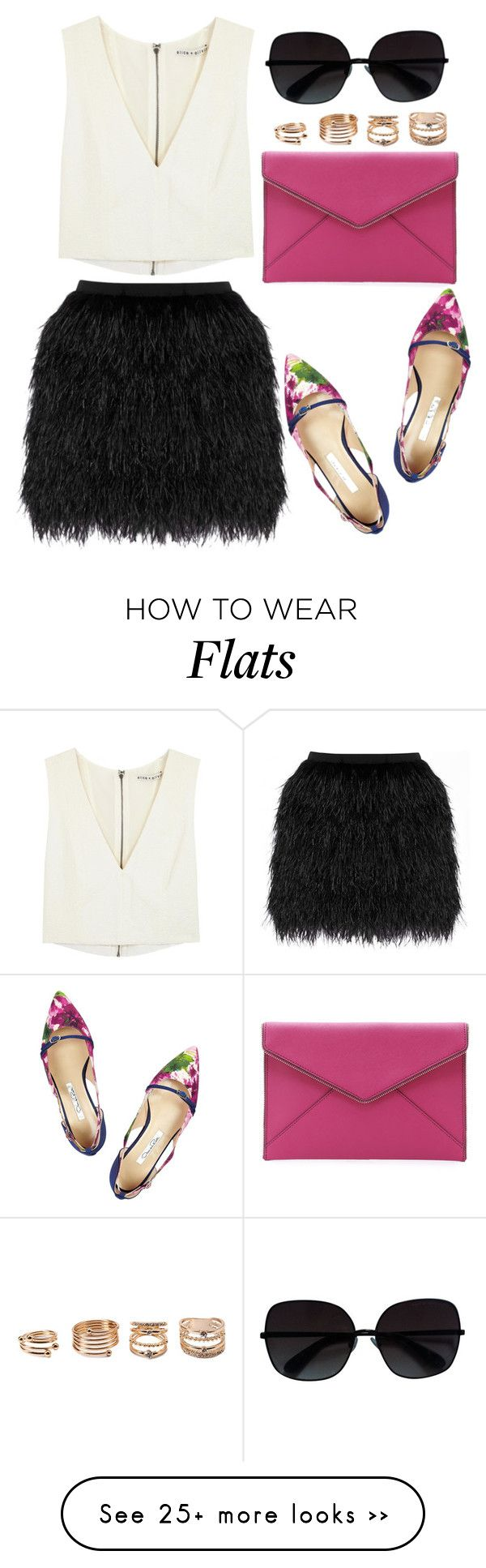 """""""#258"""" by preet111 on Polyvore featuring Raoul, Alice + Olivia, Oscar de la Renta, Rebecca Minkoff, Marc by Marc Jacobs, Forever 21, croptop, Leather and MINISKIRT"""