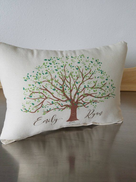 Wedding Pillows Name And Date Pillow Custom 2nd Anniversary Gift Cotton Throw Cushion Newlywed Gift Ideas Personalized Pillows Gifts For Fiance Pillows