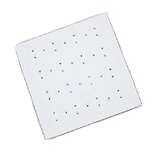 NEW BC WHITE ANTI BACTERIAL ANTI SLIP RUBBER SQUARE SHOWER MAT - SM310