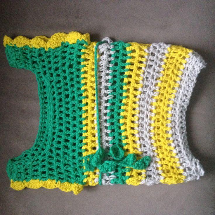Tunique néon #crochet #tunic #baby girl