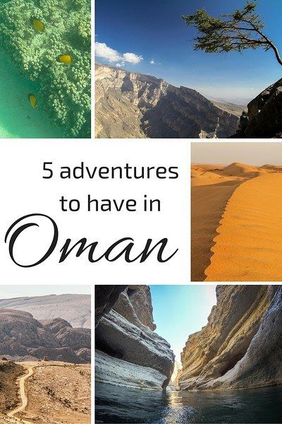 5 adventures to have in the Sultanate of Oman : swimming in Wadi Shab, Going off road, snorkeling...