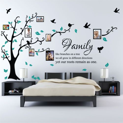 Family Tree Bird Photo Frame Nursery Wall Quotes, Wall Stickers, Wall Art | eBay