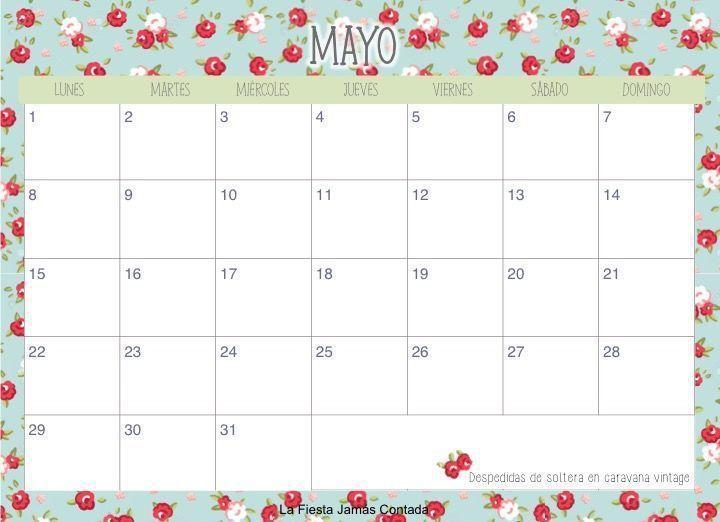 ... Calendario de mayo 2016, Mayo 2016 calendario και Fondos facebook