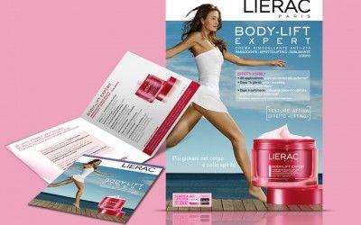 Lierac Cartello Vetrina e Folder Body Lift Expert