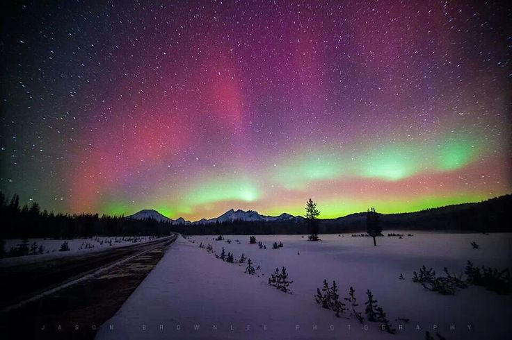 Aurora borealis from central Oregon Cascade Mountains by Jason Brownlee Photography and Design