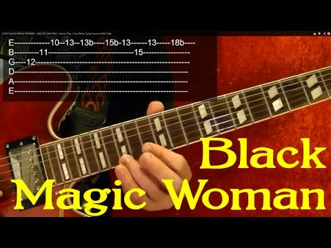 EASY! BLACK MAGIC WOMAN - CARLOS SANTANA - Guitar Lesson by BobbyCrispy - YouTube