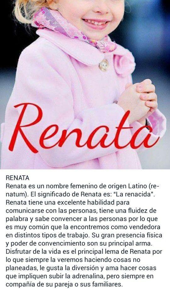 Nombres de niñas, significado del nombre Renata
