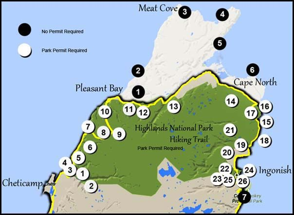 Cape Breton hiking trails, Hike the Highlands,The Skyline Trail, Pollett's Cove trail, the Cabot Trail Cape Breton Nova Scotia