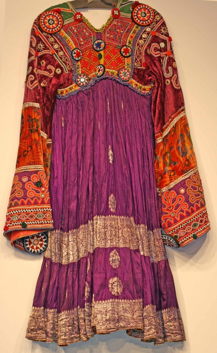 Afghan Dress - The real thing? More bright than I would wear... But, gorgeous.