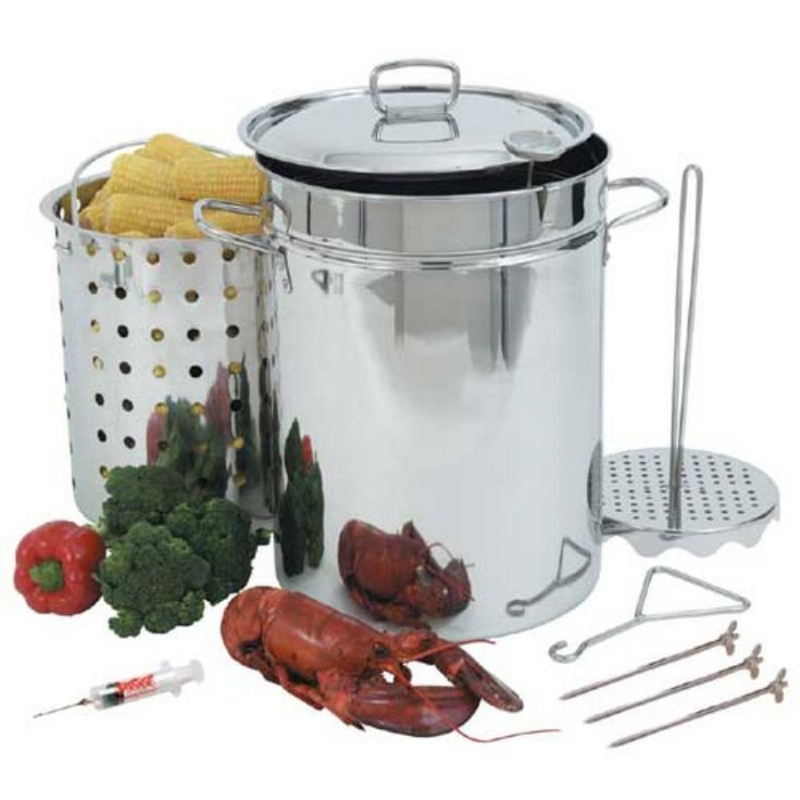 Bayou Classic 32-Quart Stainless Steel Turkey Fryer Pot Set - 1118