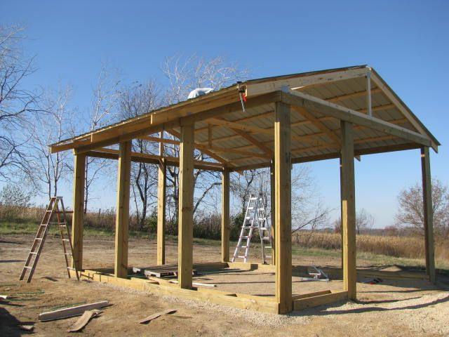 Timber frame pole barn dream shop pinterest barn for How to frame a pole barn house
