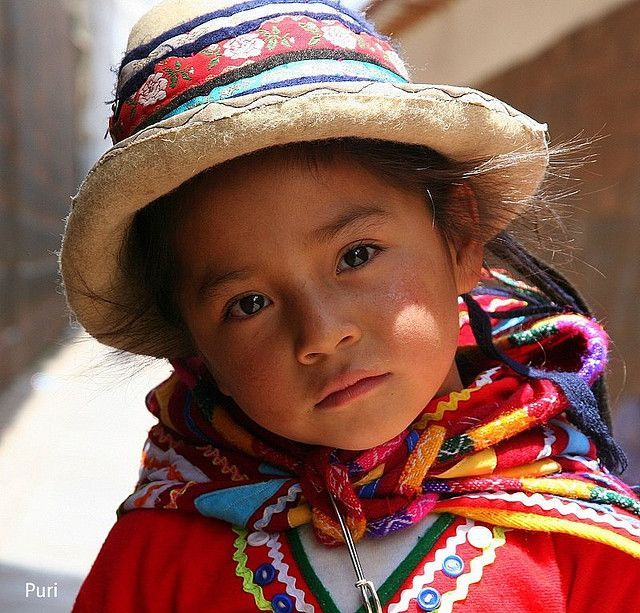 by puri_ on Flickr.  Young faces of the world - following Inca's heritage, Peruvian girl.: