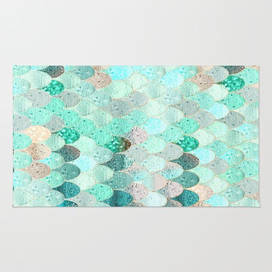 SUMMER+MERMAID+Rug+by+Monika+Strigel+-+$28.00