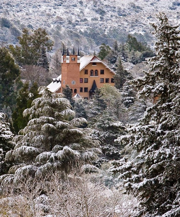 Villa General Belgrano, Cordoba. Argentina. Although we travelled during the Spring/Summer months so no snow! It's designed like an old alpine town, with wooden lodges and pine trees; and the most beautiful scenery.