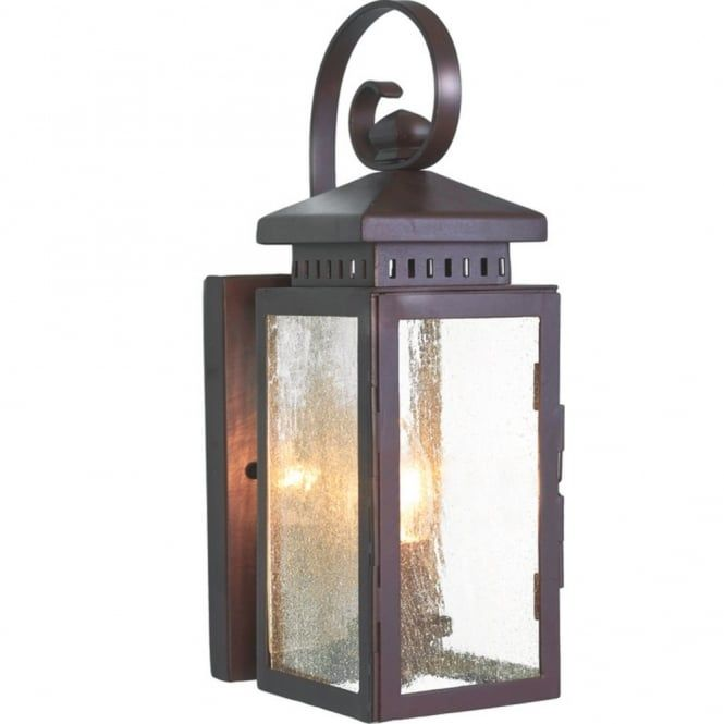 Elstead Lighting Hythe Single Light Wrought Iron Outdoor Wall Fitting With An Old Bronze Finish