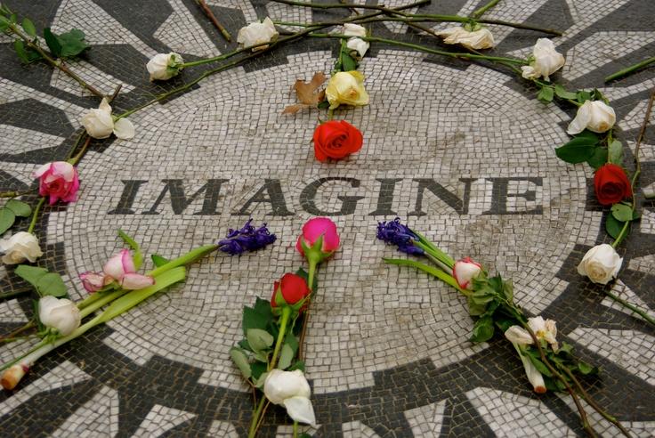 Central Park- Imagine. John Lennon Memorial