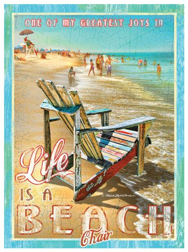 One of my greatest joys in Life Is A Beach Chair - 12x16 art Print $28.99