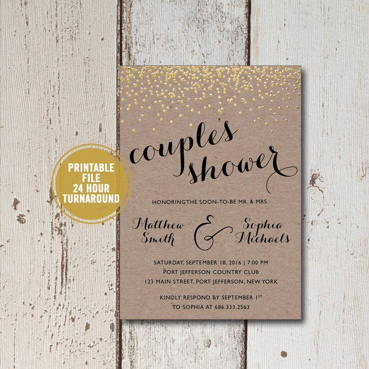 bridal shower invitation pictures%0A Rustic Couples Shower Bridal Shower Invitation Printable  Rustic Bridal  Shower Invitation  Kraft Paper Bridal