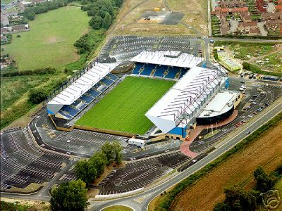 Kassam Stadium, Oxford United FC. Capacity: 12 500
