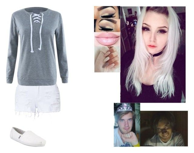 """""""Ebba/GuideTheTorch(YouTube Channel Name)  // PewDiePie/Felix's Sister"""" by askingmotionless ❤ liked on Polyvore featuring LE3NO and Skechers"""