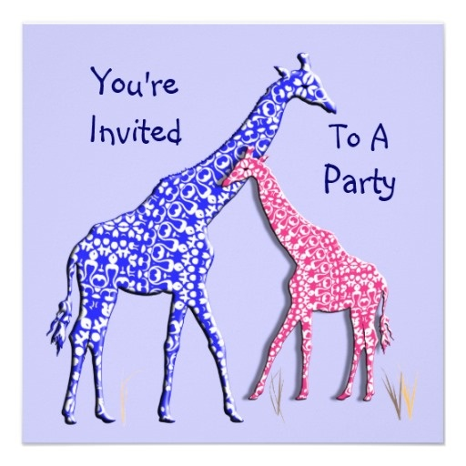 65 best images about Pink Safari Party – Giraffe Party Invitations