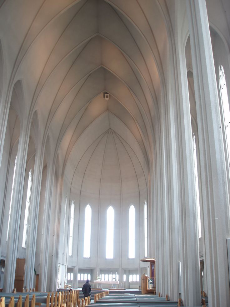 Interior of the cathedral of Reykjavik
