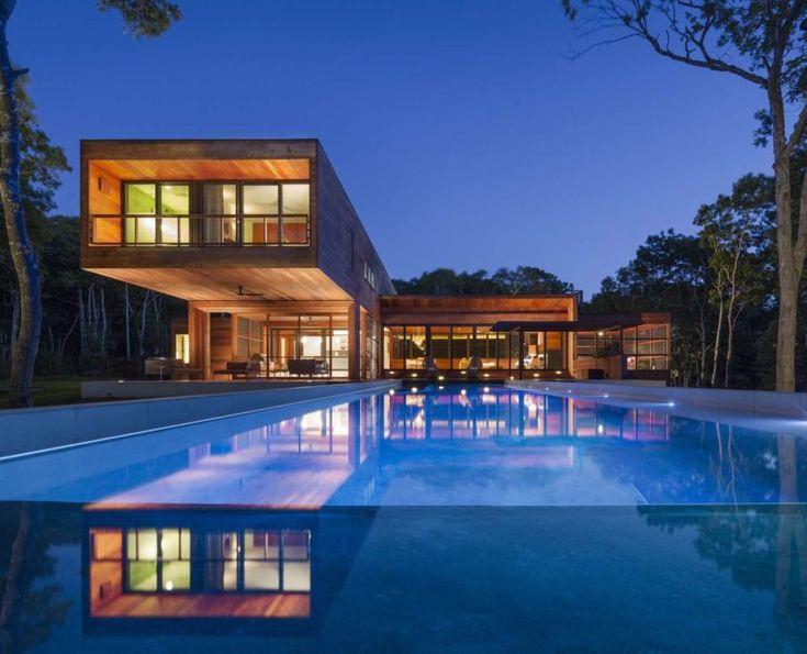 modern pool and home - Hinterhoflandschaftsideen
