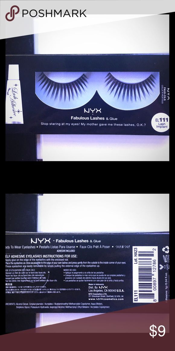 NYX Special Effects Lashes. Lash Implant. NYX Special Effects Lashes. Lash Implant. Use these to accessorize a night out look. Or use them for pageants, plays, performing etc. or your YouTube GRWM videos. Bundle NYX items with other NYX items to get a discount and save on shipping! NYX Makeup False Eyelashes