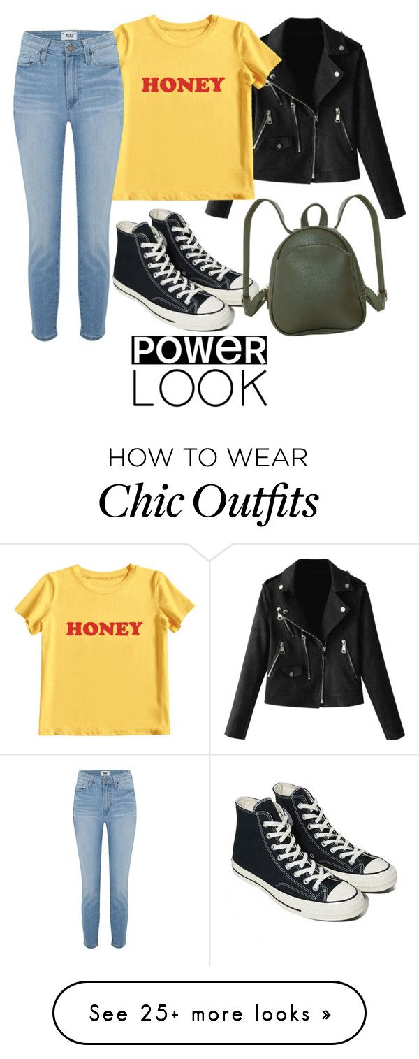 """""""Untitled #159"""" by emgs-1 on Polyvore featuring MIEL, Paige Denim, Converse and Humble Chic"""