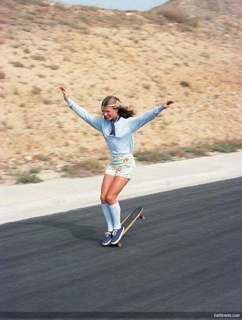 1970s Skater Girls - Ellen O Neal