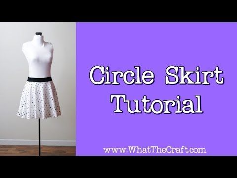 ▶ How To Sew a Circle Skirt http://www.youtube.com/user/smarmyclothes/videos
