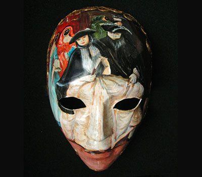 Volto con maschere M13 « Atelier Marega Mask handmade painted