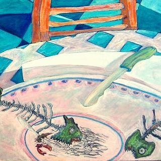 No more fideua  Arturo Miranda  #acrylic #artist  #fideua  #mediterranean  ##chiringuito  #artcollective #mar #satrinxa #laraspa  #table